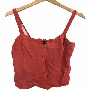 ABERCROMBIE FITCH Red Orange Bustier Crop Top Tank